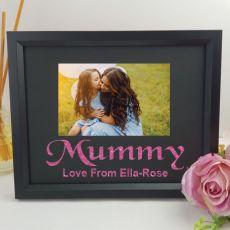 Personalised Mum Glitter Photo Frame - Black