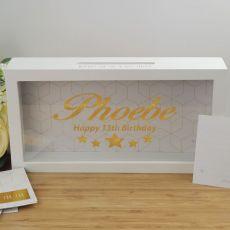13th Birthday Personalised Message Box Guest Book Keepsake