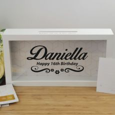 16th Birthday Personalised Message Box Guest Book Keepsake