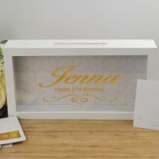 21st Birthday Personalised Message Box Guest Book Keepsake