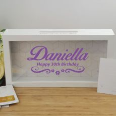 30th Birthday Personalised Message Box Guest Book Keepsake