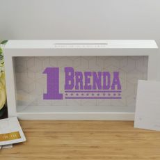 Personalised 1st Birthday Message Box Guest Book