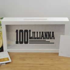 Personalised 100th Birthday Message Box Guest Book