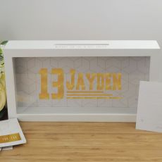 Personalised 13th Birthday Message Box Guest Book