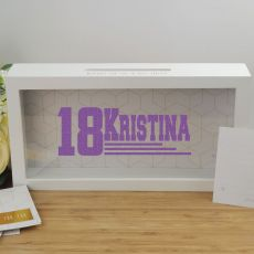 Personalised 18th Birthday Message Box Guest Book