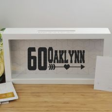 Personalised 60th Birthday Message Box Guest Book