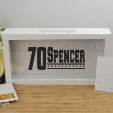 Personalised 70th Birthday Message Box Guest Book