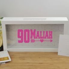 Personalised 90th Birthday Message Box Guest Book