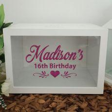 Personalised 16th Birthday Wishing Well Card Box