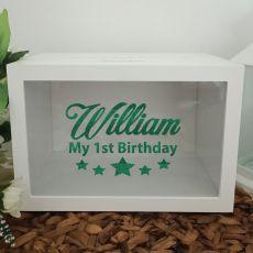 Personalised 1st Birthday Wishing Well Card Box