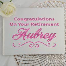 Retirement Guest Book Keepsake Album - White A5