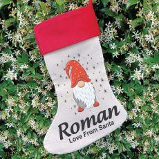 Personalised Christmas Stocking - Gnome