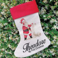 Personalised Christmas Stocking - Santas List
