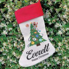 Personalised Christmas Stocking - Space Tree