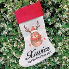 Personalised Christmas Stocking - Reindeer