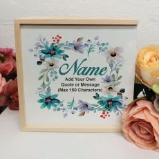 Mum Personalised Keepsake Box - Blue Floral
