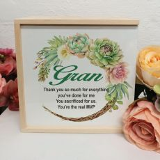 Grandma Personalised Keepsake Box - Succulent