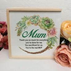 Mum Personalised Keepsake Box - Succulent