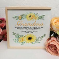 Grandma Personalised Keepsake Box - Sunflower
