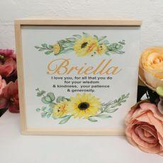 Personalised Keepsake Box - Sunflower