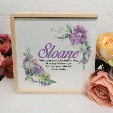Personalised Keepsake Box - Vintage Floral