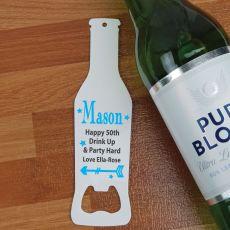 50th Birthday Personalised Bottle Opener