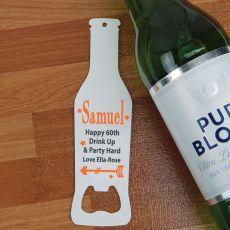 60th Birthday Personalised Bottle Opener