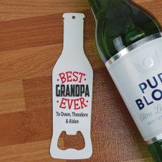 Best Grandpa Ever Bottle Opener