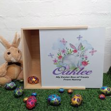 Personalised Easter Box Medium White Lid  - Butterfly Bunny