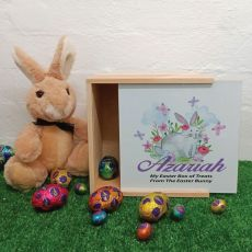 Easter Box Small White Lid - Butterfly Bunny