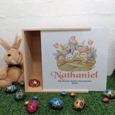 Personalised Family Easter Box White Lid - Easter Basket