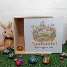 Personalised Easter Box Medium White Lid - Easter Basket