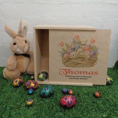 Personalised Wooden Easter Box Medium - Easter Basket