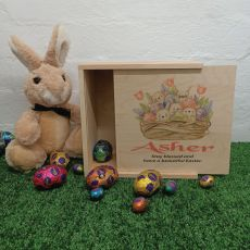 Personalised Wooden Easter Box Small - Easter Basket