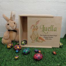 Personalised Easter Box Medium Wood - Rabbit Carrot