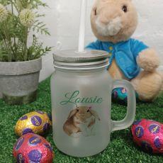 Easter Mason Drink Jar Mug w/straw - Watercolour