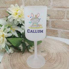 Easter Wine Glass 270ml - Tribal Bunny