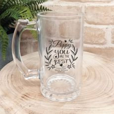 Pop Personalised Glass Beer Stein