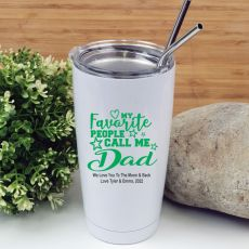 Dads Favourite People Tumbler Travel Mug 600ml