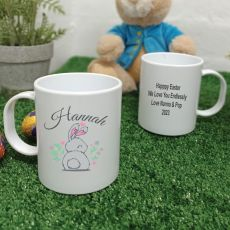 Personalised Easter Melamine Mug - Cotton Tail