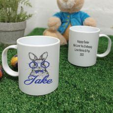 Personalised Easter Melamine Mug - Glasses Rabbit