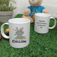 Personalised Easter Melamine Mug - Tribal Bunny