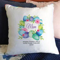Mum Easter Cushion Cover - Blue Eggs