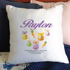 Personalised Easter Cushion Cover - Hanging Eggs