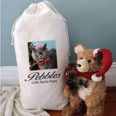 Personalised Pet Photo Christmas Sack 80cm