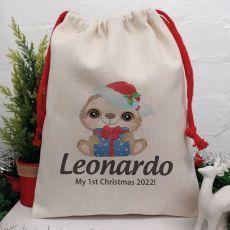 Personalised Christmas Sack 40cm  - Baby Sloth