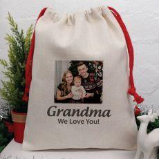 Personalised Photo Christmas Sack 40cm