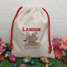 Personalised Easter Sack Hunt Bag 40cm  - Tribal Bunny