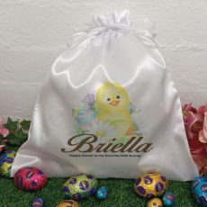 Personalised Easter Sack Hunt Bag 35cm  - Easter Chicken