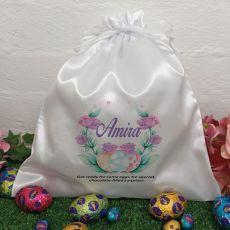 Personalised Easter Sack Hunt Bag 35cm  - Rose